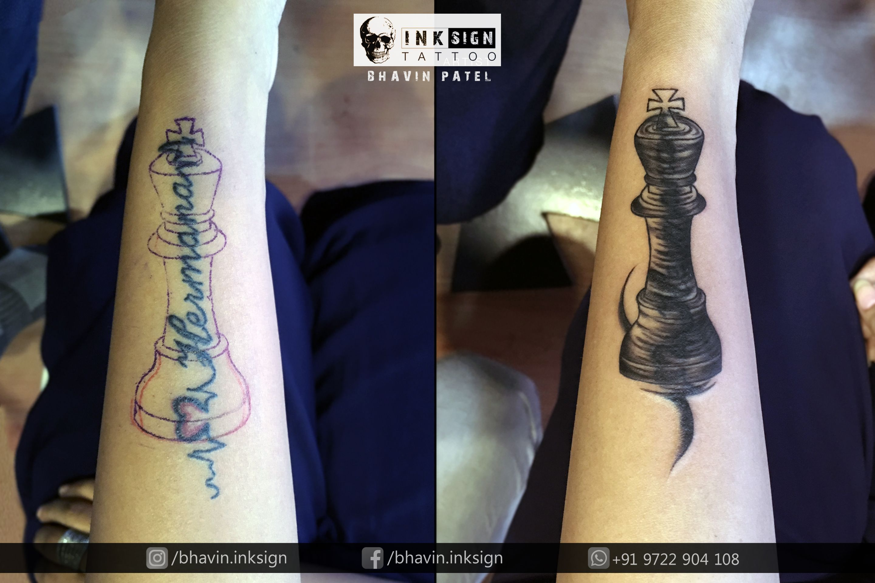 Cover up Done By #Bhavinpatel (Professional tattoo artist ) At ...