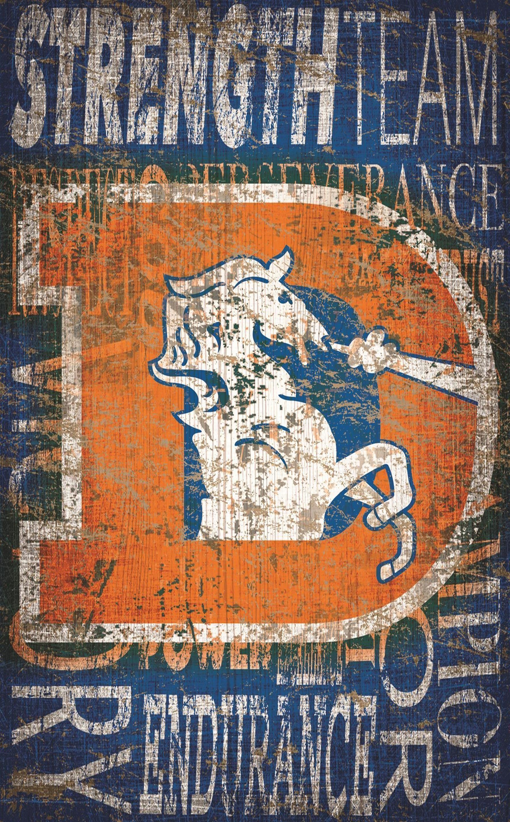 Denver Broncos Heritage Word Collage 11\