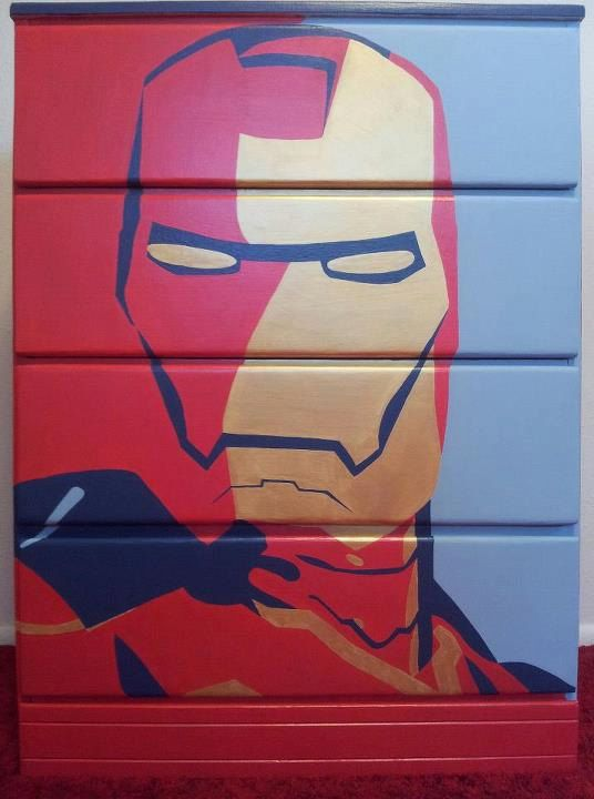Iron Man Dresser by RatbagFurniture on Etsy. Iron Man Dresser by RatbagFurniture on Etsy    kids repurposed