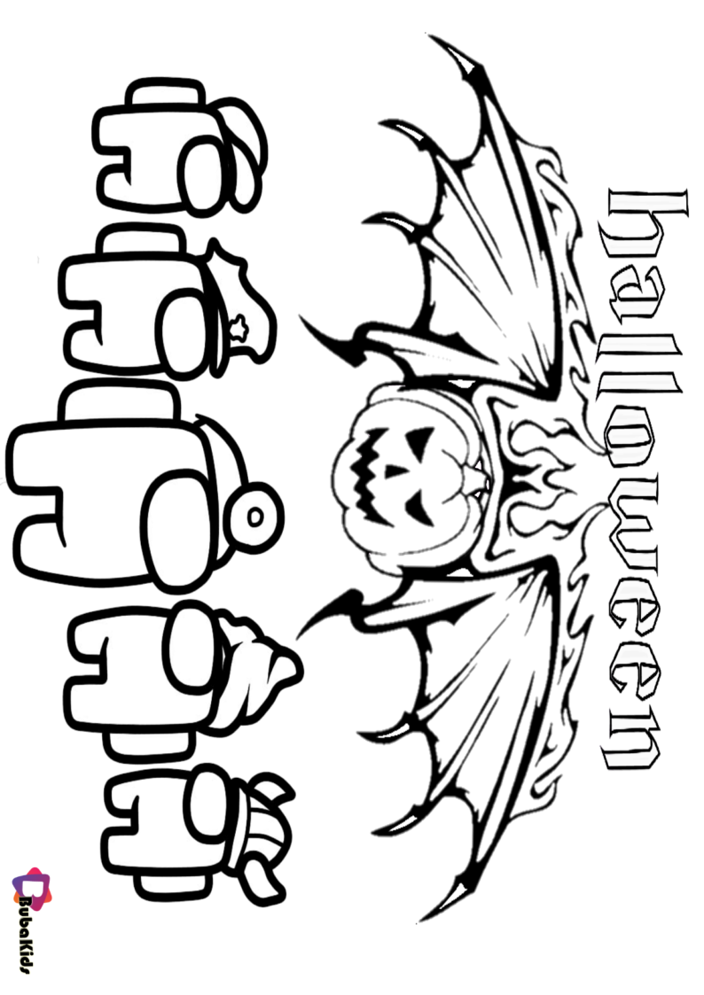 Among Us Halloween Coloring Pages Cartoon Coloring Pages Coloring Pages Halloween Coloring