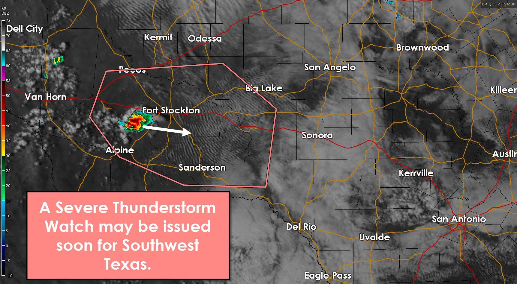 Severe Thunderstorm Watch Possible For Southwest Texas Texas Storm Thunderstorms Storm Prediction Center