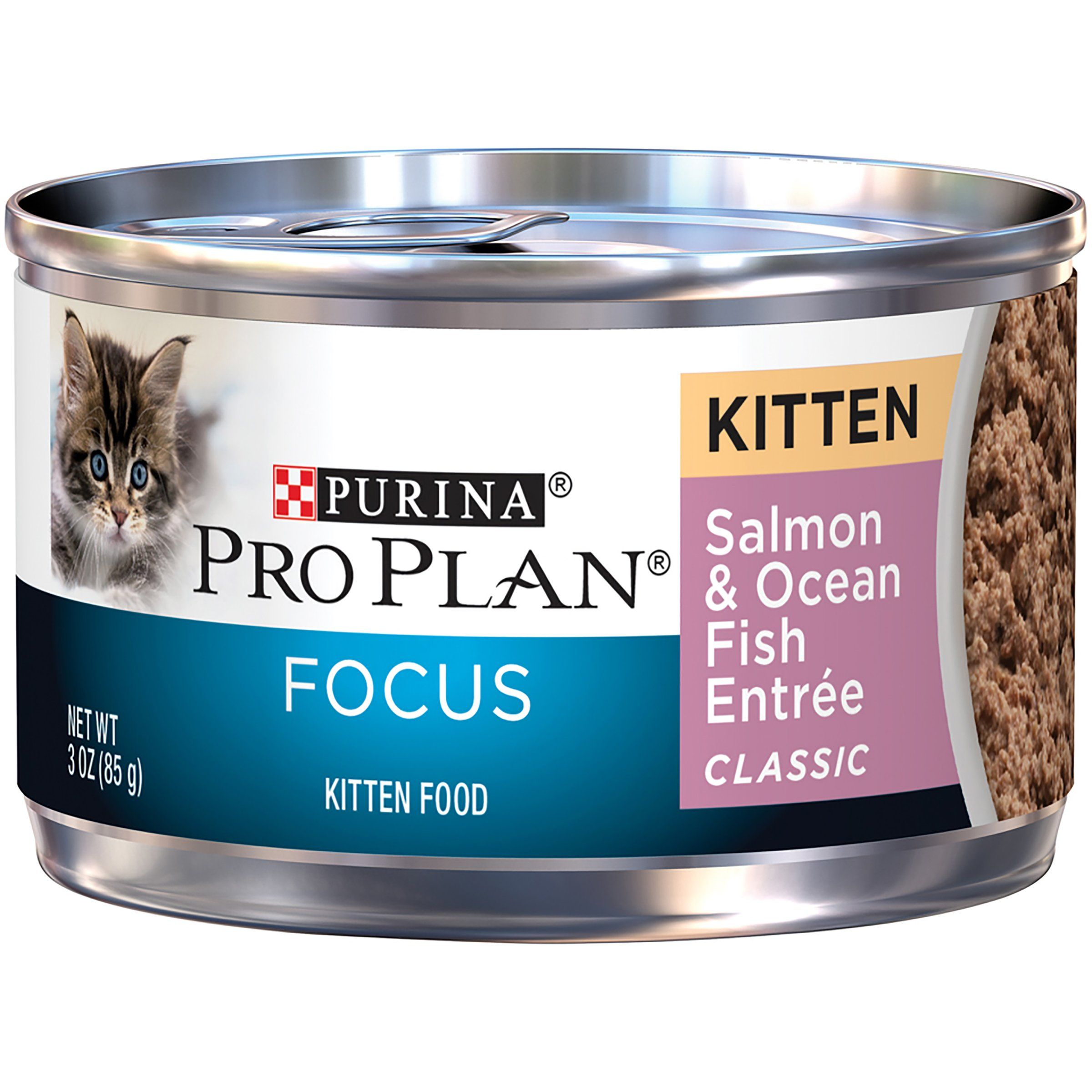 Purina Pro Plan Wet Cat Food Focus Kitten Salmon And Ocean Fish Entre 3ounce Can Pack Of 24 Find Out More Abou Kitten Food Purina Pro Plan Canned Cat Food