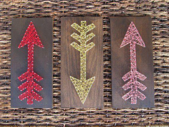 11 incre bles dise os de cuadros con clavos e hilo para - Cuadros para decorar ...