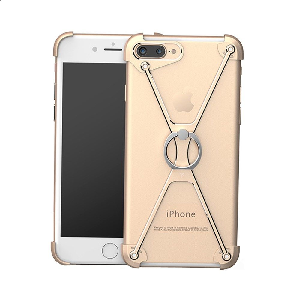 Metal Bumper Frame Mobile Phone Ring Holder Bracket Protective Case Luxury Iring Crystal Silver For Apple Iphone 6 6s 7