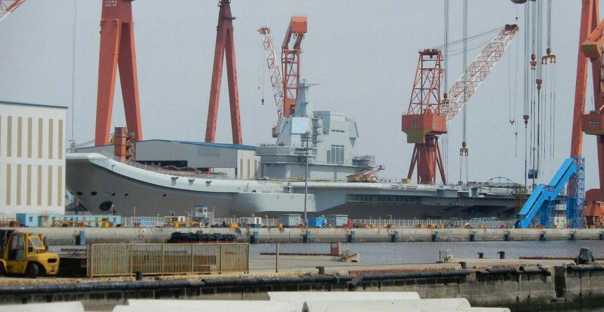 Chinese PLAN 001A Aircraft Carrier (CV-17) under construction