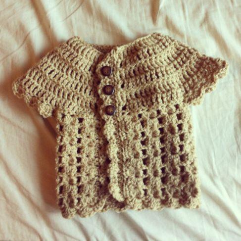 1763712a39ba Crocheted baby sweater