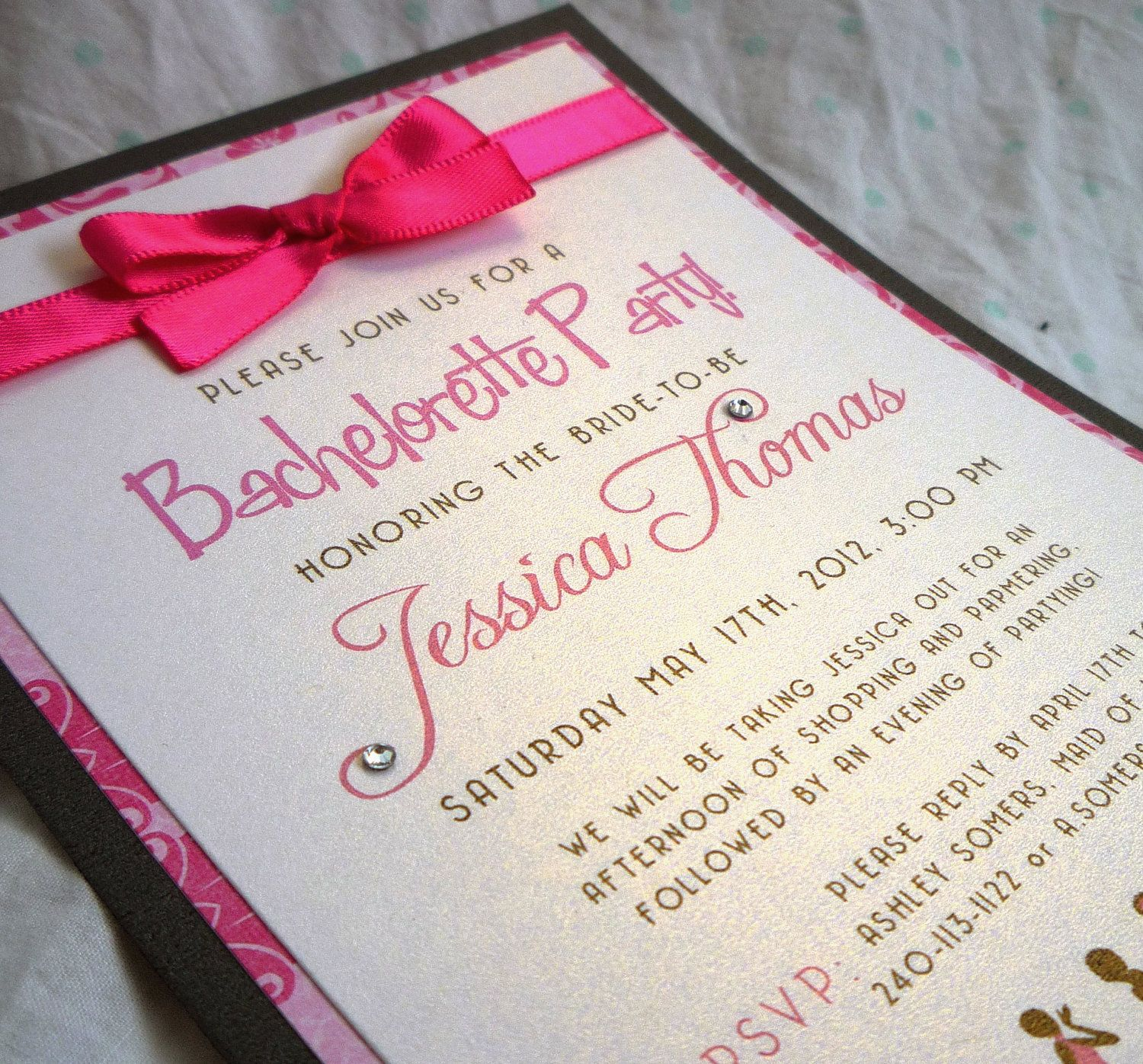 Bachelorette Party Invitations Cute Invites