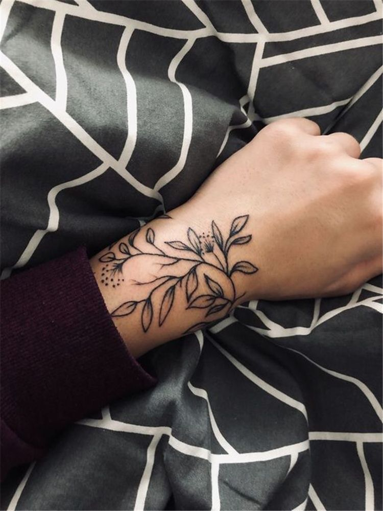 50 Meaningful Wrist Bracelet Floral Tattoo Designs You Would Love To Have Page 26 Of 50 Cute Ho Unique Wrist Tattoos Tiny Wrist Tattoos Small Wrist Tattoos