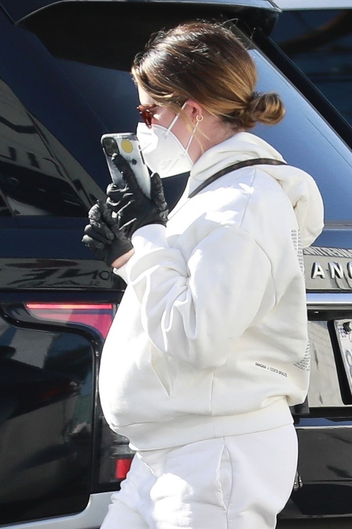 Pregnant ASHLEY TISDALE Out Shopping in Van Nuys 12/21 ...