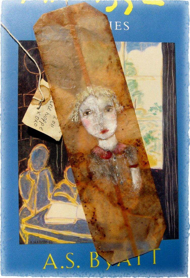 Girl on a teabag.