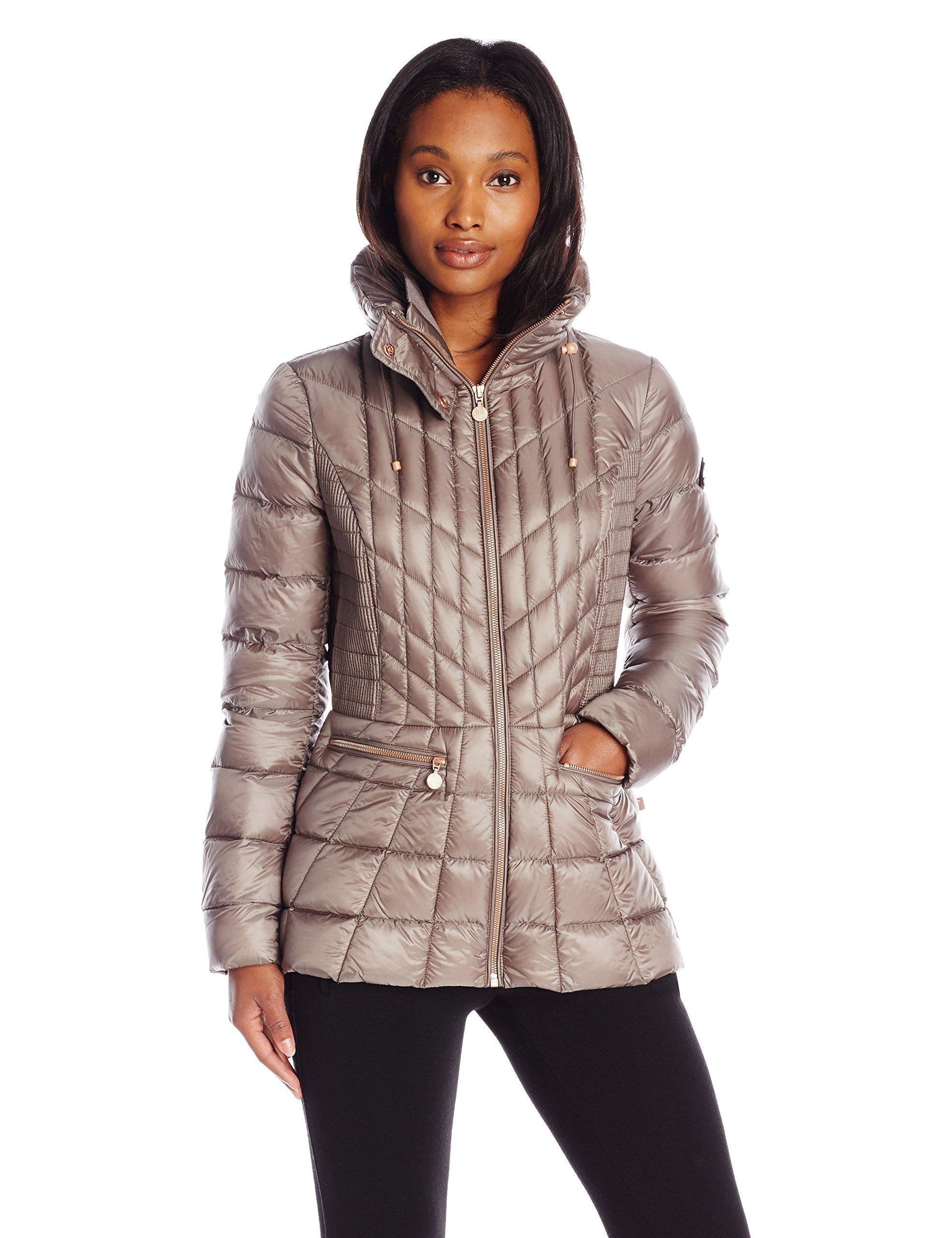 Bernardo Women S Packable Goose Down Jacket At Amazon Women S Coats Shop Jackets Coats For Women Fashion [ 2560 x 1969 Pixel ]