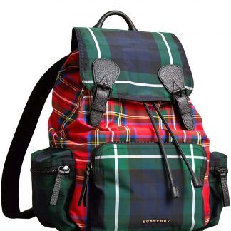 0bfd0ce00 Replica Burberry The Large Rucksack in Patchwork Tartan 40649361 Green #5750