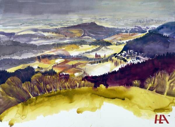 Landschaft, Edith Thurnherr Wunderbare Kontraste