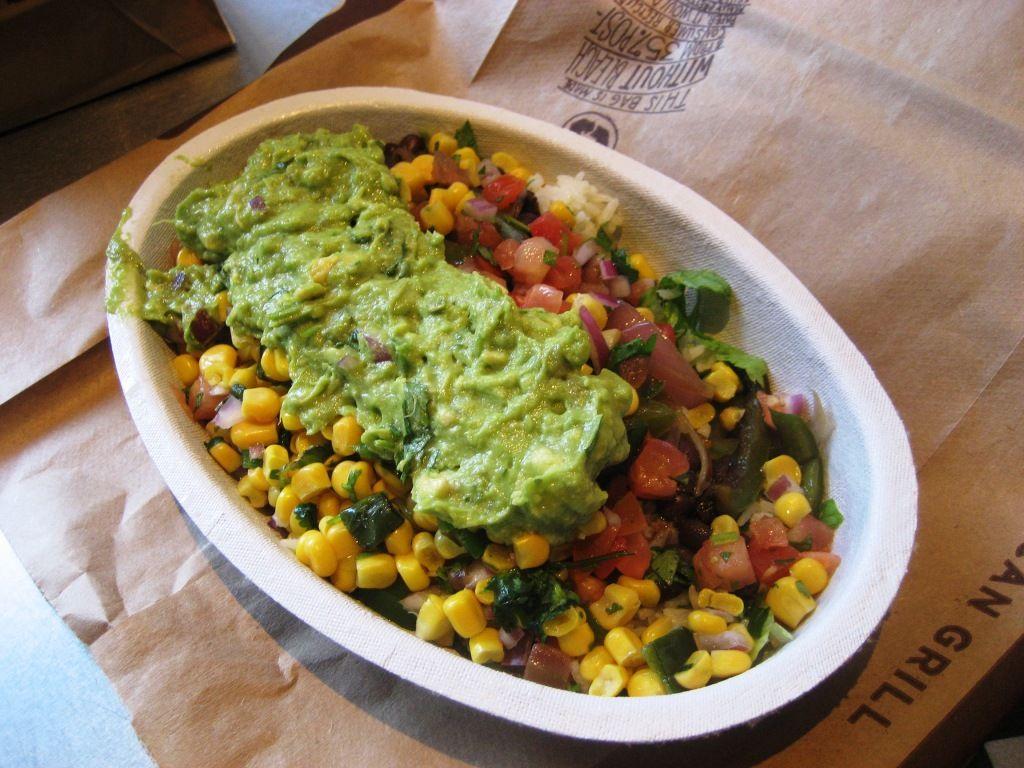 Chipotle burrito bowl vegan fast food fast healthy