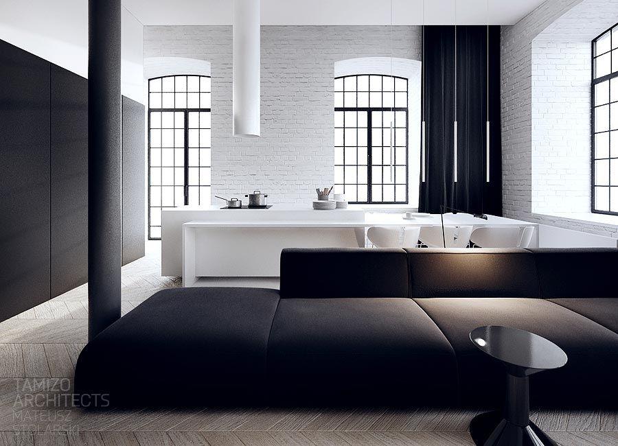 interior design in black \u0026 white furniture loft interior designblack \u0026 white