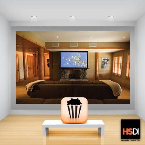 Home Theater O Cinema Na Sua Casa: Um Belo Exemplo De Como Montar Um Home Theater Na Sua Casa