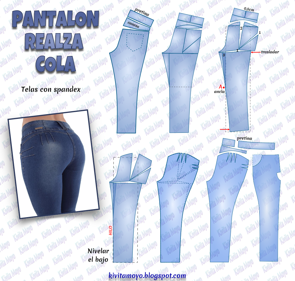 Image result for como hacer pantalon levanta cola