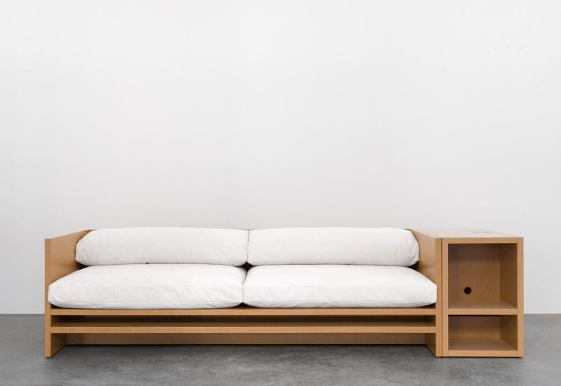 Minimalist And Comfortable Cube Wooden Sofa Design With
