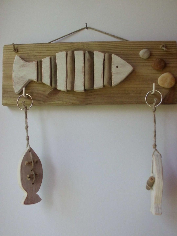 plaque accroche clefs en bois d corations murales par ptitecrea d coration bord de mer. Black Bedroom Furniture Sets. Home Design Ideas