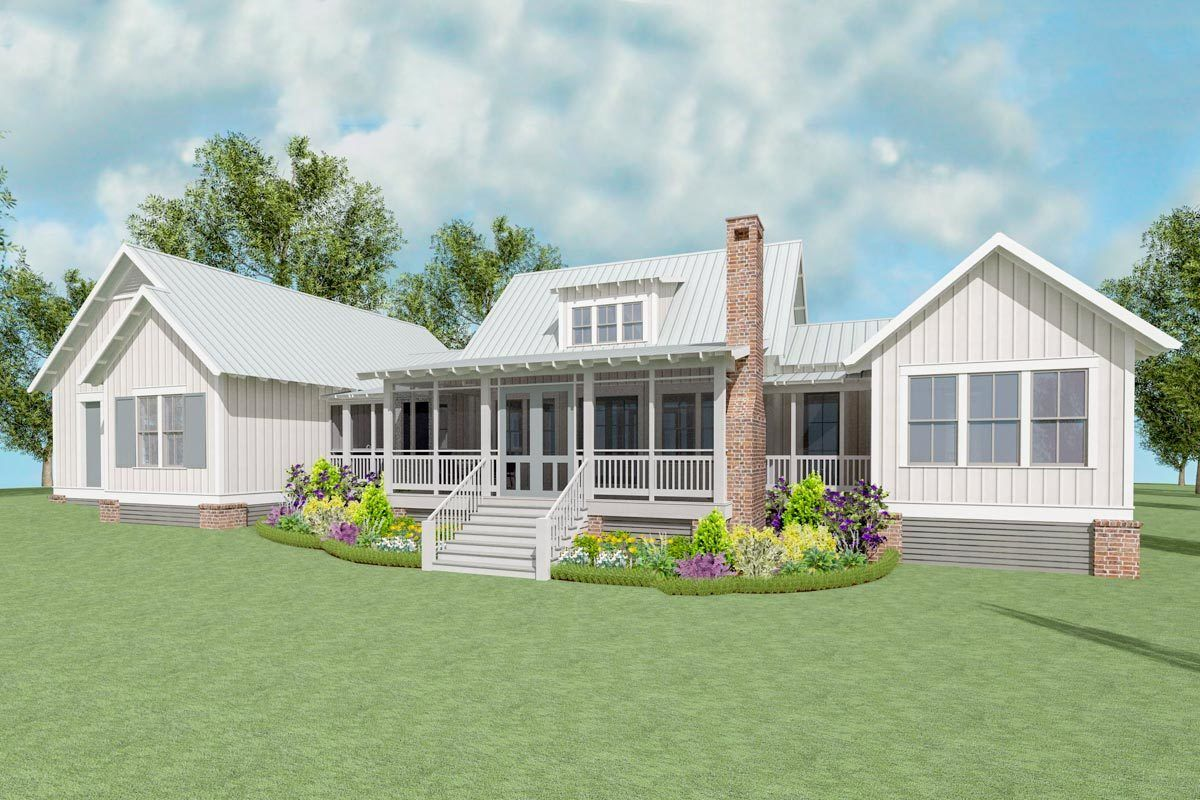 Plan 130010lls Exclusive Farmhouse Plan With Side Entry Garage Farmhouse Plans House Plans Farmhouse Farmhouse House