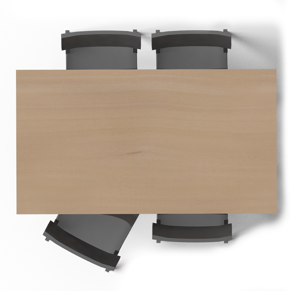 Norden Gateleg Table and Chair Top | -top view furnitures ...