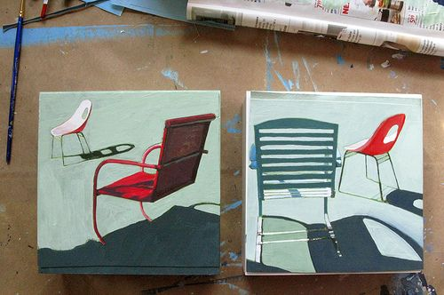 Chairs in Pairs by leahgiberson, via Flickr