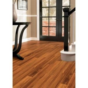 Hampton bay high gloss alexander oak 8 mm thick x 5 in wide x 47 3 4 in length laminate - Hampton bay flooring home depot ...