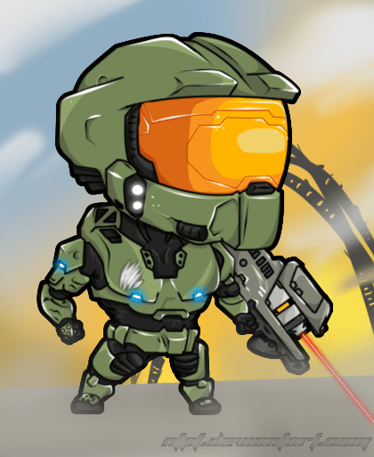 Master Chief Color Master Chief Chibi Super Coloring Pages