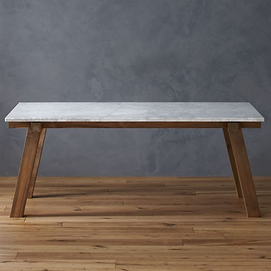 Riviera Rectangular Marble Top Dining Table In Paola Navone