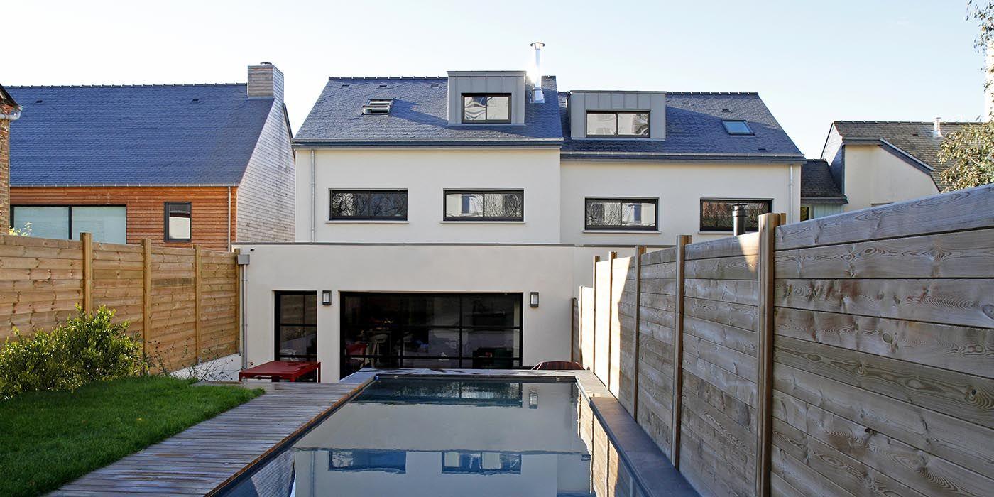 Constructeur Maison Neuve Ille Et Vilaine une sublime #maison avec #piscine crée par un constructeur