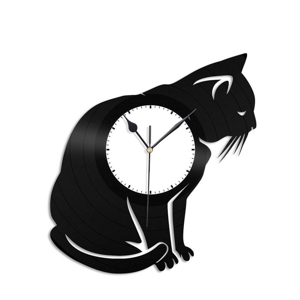 Cat Vinyl Wall Clock Relogios