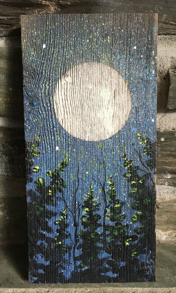One of a Kind Painting on Weathered Antique Barn Board | mis cuadros ...