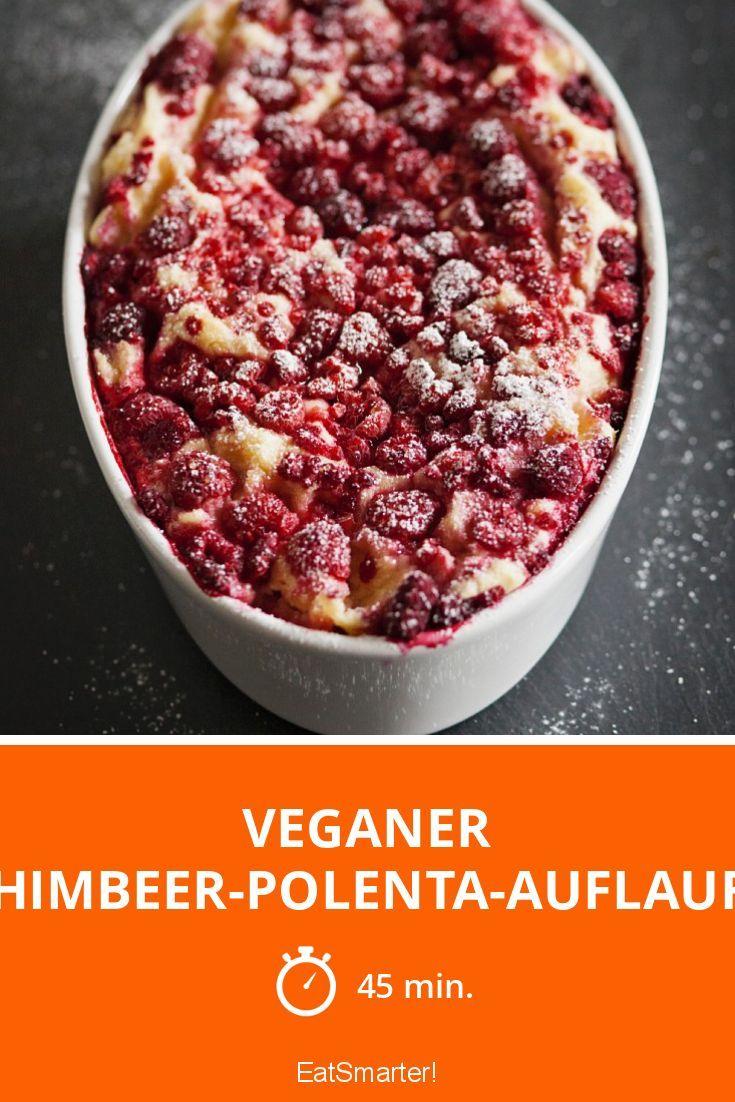 Veganer Himbeer-Polenta-Auflauf