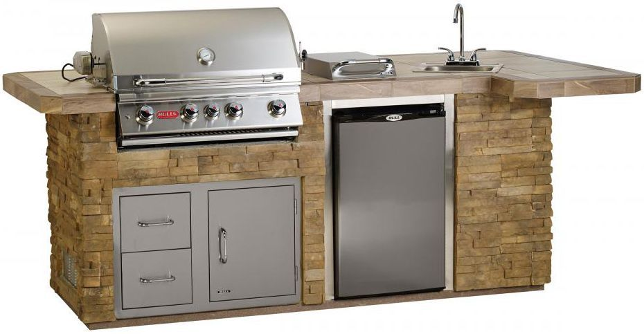 Bull Bbq Bbq Complete Bbq Island Comes Standard With A 30 Inch Built In Gas Grill Single Access Door With Lock And Ke Built In Grill Bbq Island Outdoor Kitchen