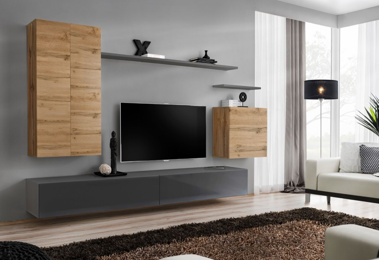 Shift 2 Modern Living Room Wall Unit Living Room Entertainment