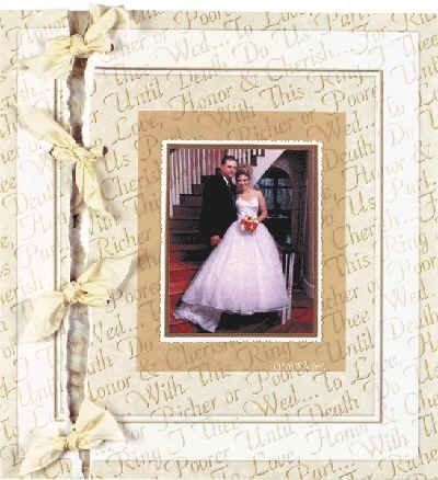20 Ideas for Scrapbooking with Ribbon: Torn Wedding Page with Ribbon