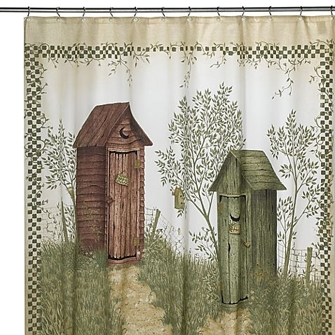 Avanti Outhouses 70 Inch X 72 Inch Shower Curtain Primitive
