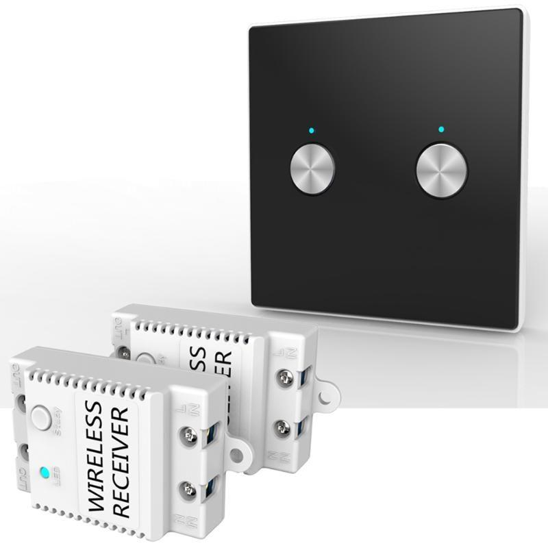 100v 240v Ac 2 Ch Wireless Remote Control Light Switch Panel
