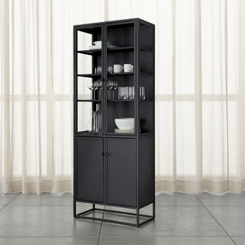 Shop Casement Black Tall Cabinet Tall Cabinet S Straightforward Silhouette Complements Everything Fr Freestanding Kitchen Tall Cabinet Tall Cabinet With Doors #tall #furniture #for #living #room