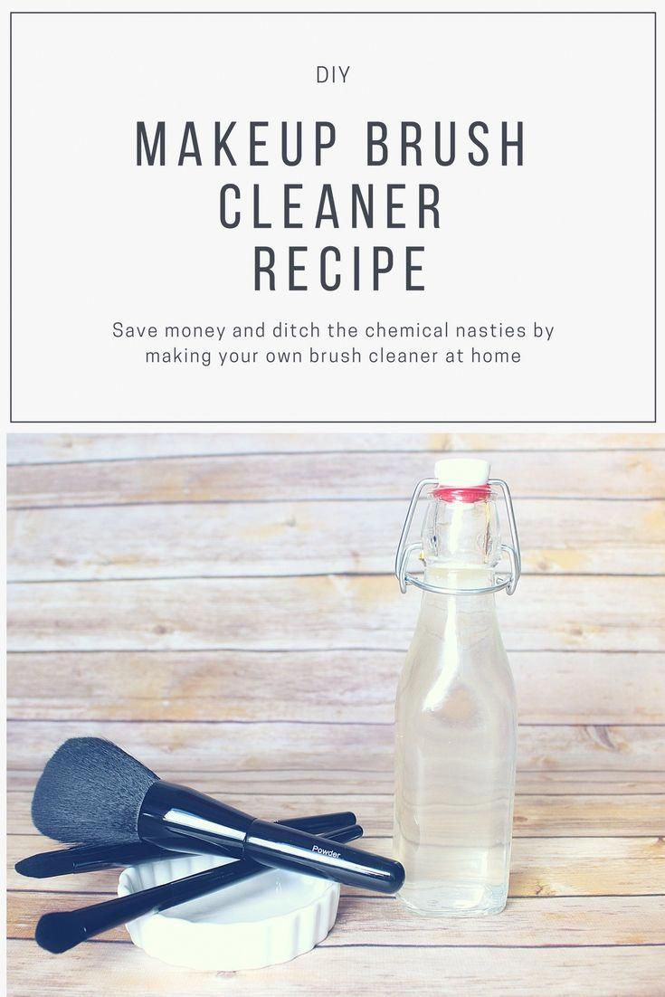 Photo of DIY Makeup Brush Cleaner recipe.  Save money and ditch the chemical nasties by m…