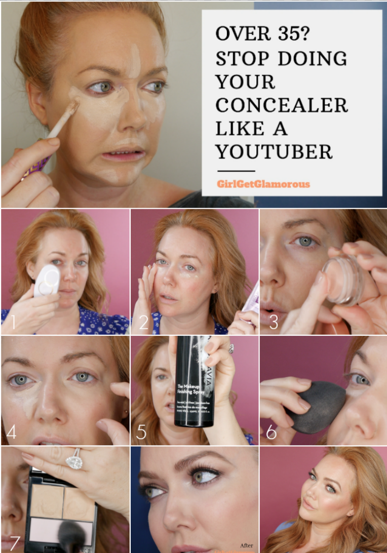 Concealer over 35 tutorial