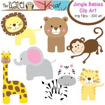 Animal Baby Set Clip Art Graphics For Teachers Jungle Theme Clip Art Baby Clip Art Doodle Frame