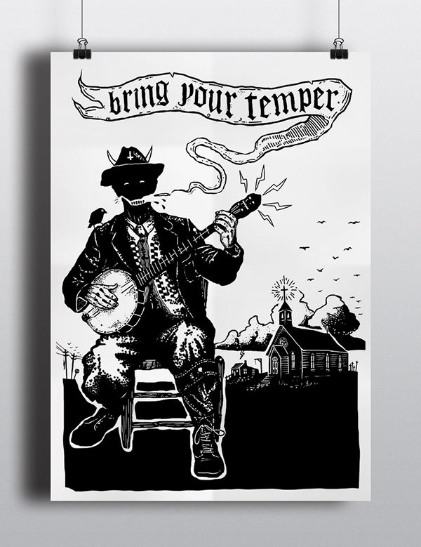 """Bring Your Temper"" - Poster on Behance"