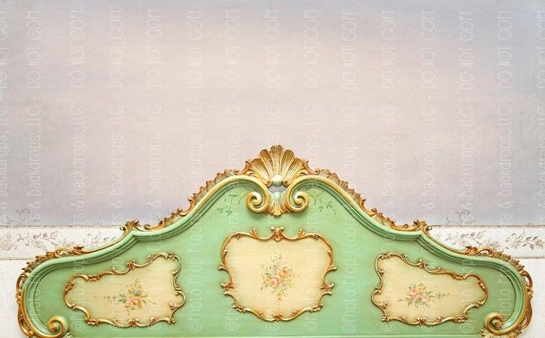 Vintage Headboard Photography Backdrop Bed Boudoir Elegant