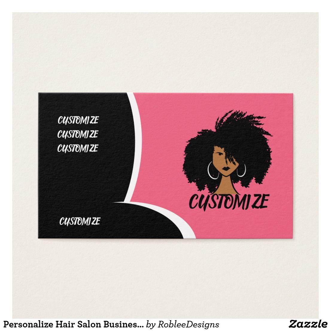 Personalize Hair Salon Business Card Zazzle Com In 2020 Salon Business Cards Hair Salon Business Business Cards Hair Salon