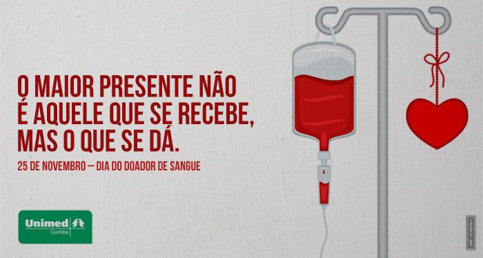 Quem está acostumado a fazer o bem, prefere a solidariedade como homenagem   Conheça as condições básicas para doar sangue e ajude quem precisa: http://unimed.me/HLtOuR
