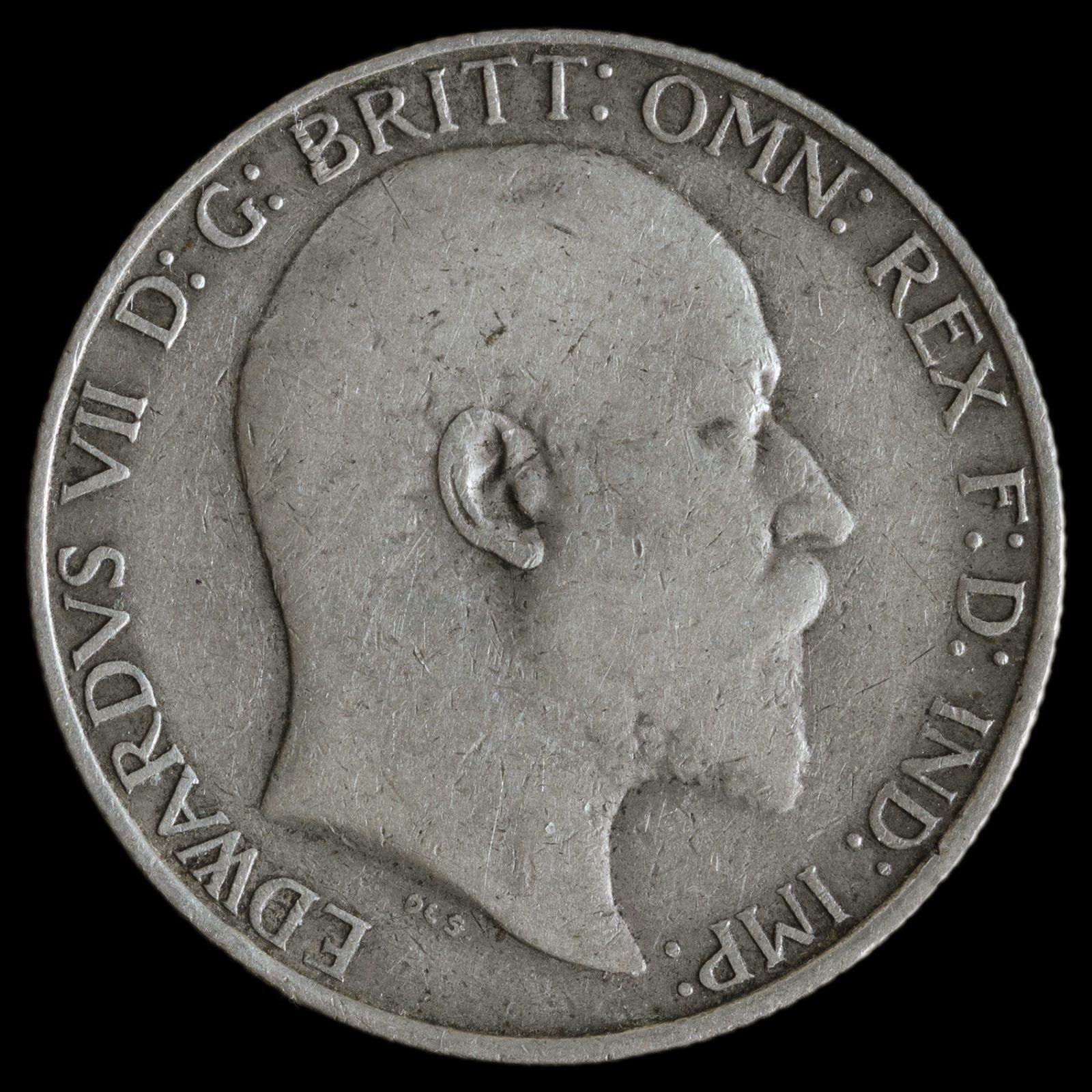 1910 Edward VII Silver Florin