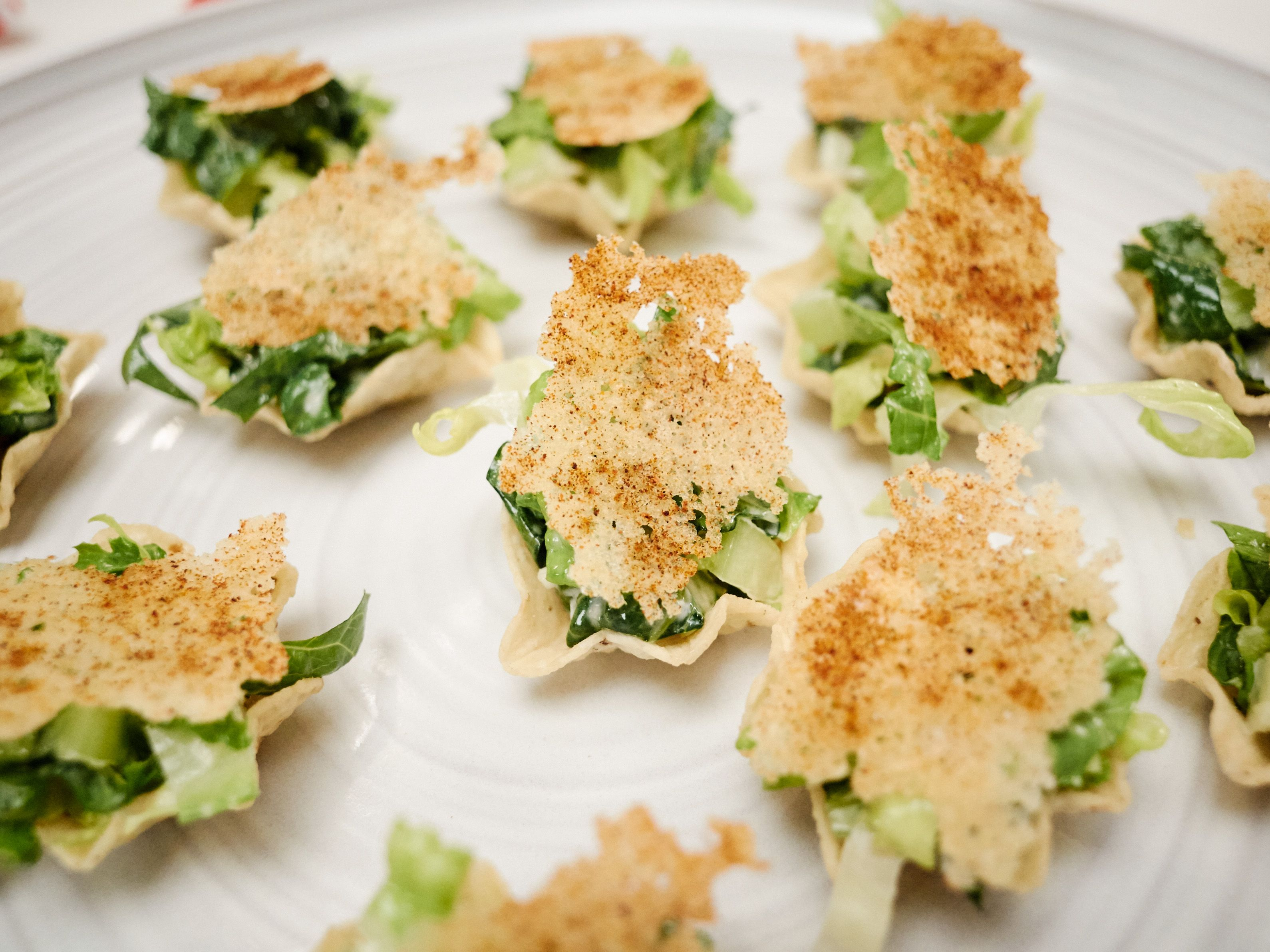 Caesar salad taco bites recipe from giada de laurentiis via food caesar salad taco bites recipe from giada de laurentiis via food network forumfinder Gallery