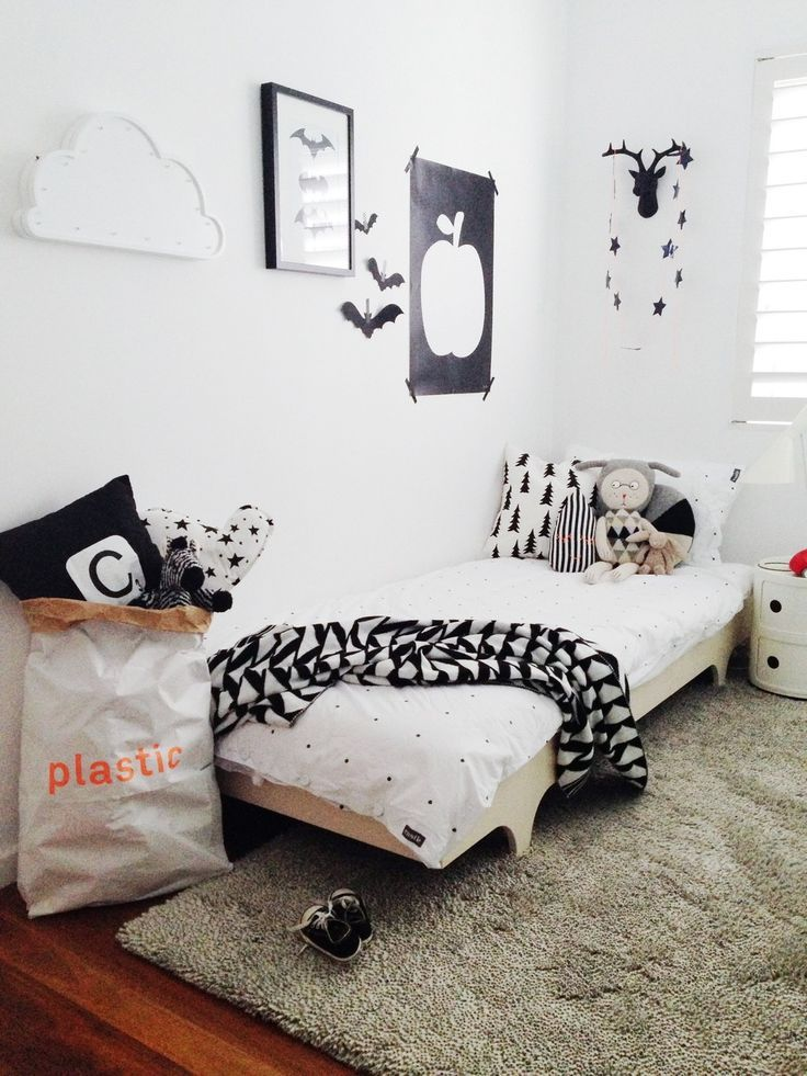 Chambre enfant, déco en noir et blanc kid\u0027s bedroom, Black and