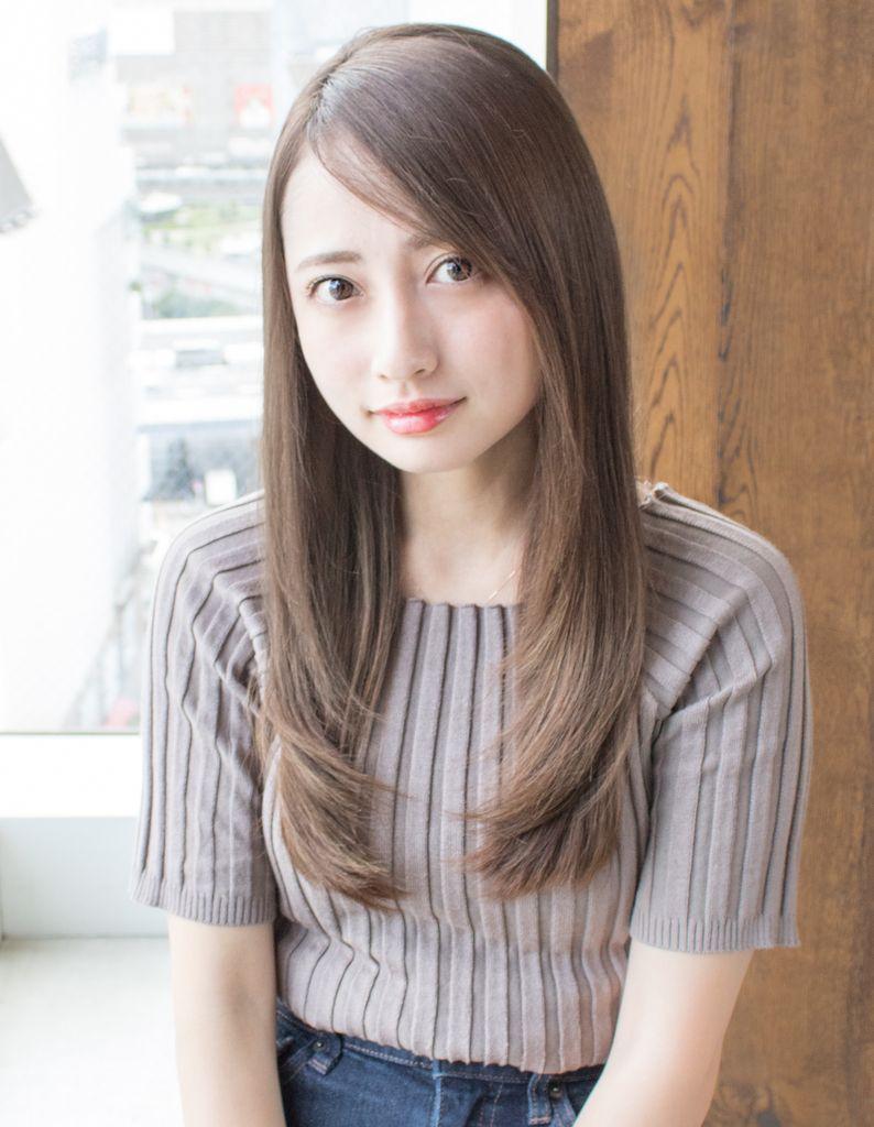 安室奈美恵さん風フェザーロングストレート As 180 ヘアカタログ